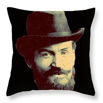Young Man Shaw Throw Pillow by Asok Mukhopadhyay