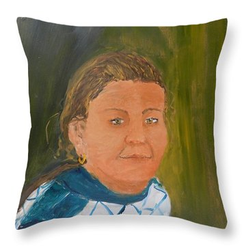 Young Model Throw Pillow