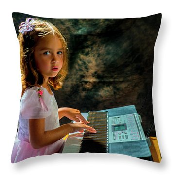Young Musician Throw Pillow