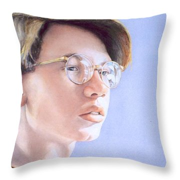 Young Nate Throw Pillow