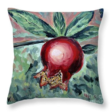 Young Pomegranate Throw Pillow