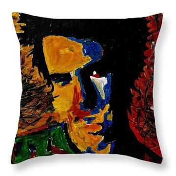 Young Sid Vicious Throw Pillow