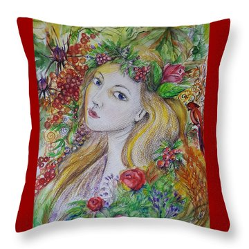 Young Summer  Throw Pillow