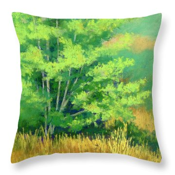 Young Tree Throw Pillow