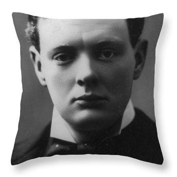 Young Winston Churchill Throw Pillow