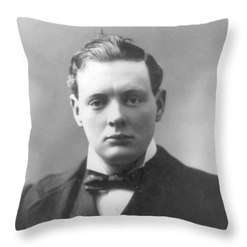 Young Winston Churchill Throw Pillow by War Is Hell Store