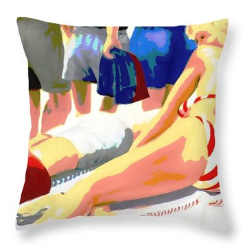 Young Woman On A Chaise Throw Pillow