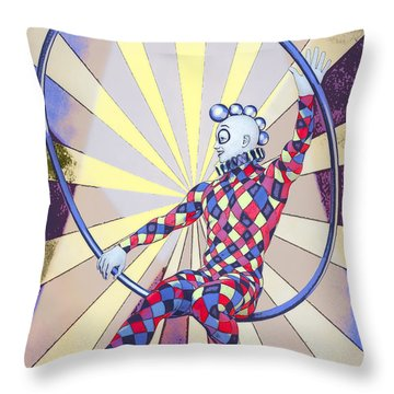 Younger Tightrope  Throw Pillow
