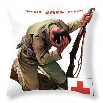 Your Blood Can Save Him - Ww2 Throw Pillow