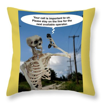 Throw Pillow featuring the photograph Your Call Is Important by Christopher Woods