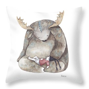 Your Dreams Are Safe With Me Throw Pillow by Soosh