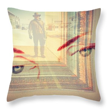 Your Eyes Only Throw Pillow