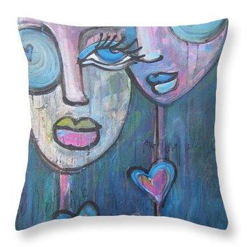 Your Haunted Heart And Me Throw Pillow