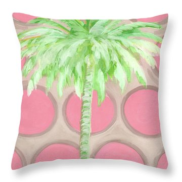 Your Highness Palm Tree Throw Pillow by Kristen Abrahamson