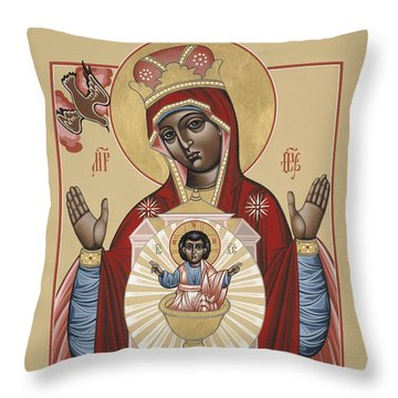 The Black Madonna Your Lap Has Become The Holy Table 060 Throw Pillow