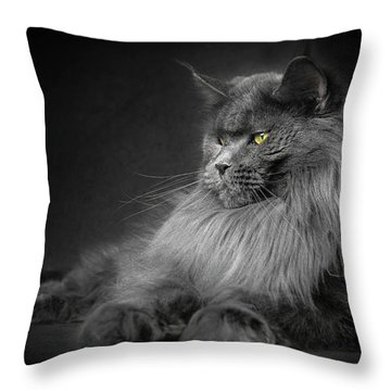 Throw Pillow featuring the photograph Your Majesty. by Robert Sijka