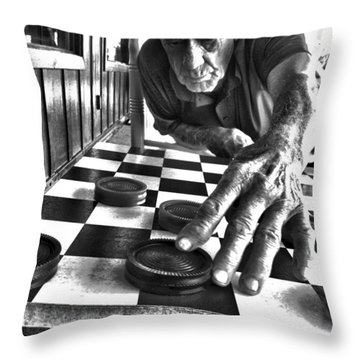 Your Move Dad Bw Art Throw Pillow