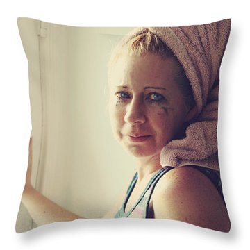Your Sorrow Shows Throw Pillow by Laurie Search
