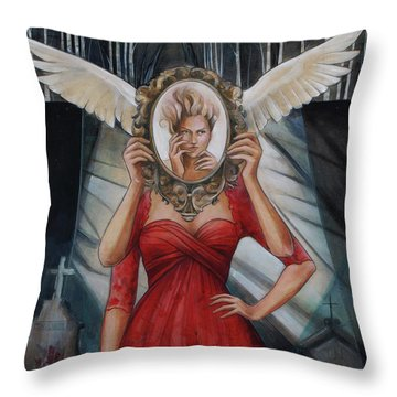 Your Soul Casts No Reflection Throw Pillow by Jacque Hudson