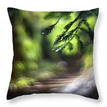 Throw Pillow featuring the photograph Your Stairway Lies On The Whispering Wind by Quality HDR Photography