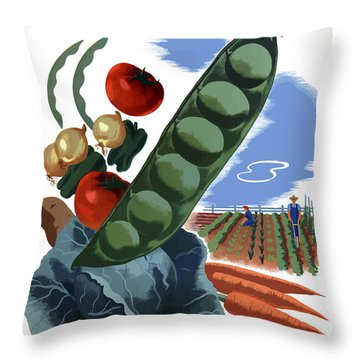 Your Victory Garden Counts More Than Ever Throw Pillow