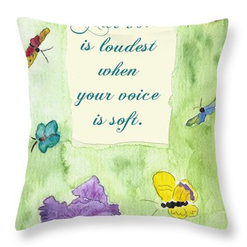 Throw Pillow featuring the painting Your Voice by Belinda Landtroop