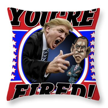 Throw Pillow featuring the photograph You're Fired by Don Olea
