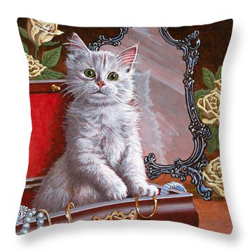 You're Home Early Throw Pillow by Richard De Wolfe