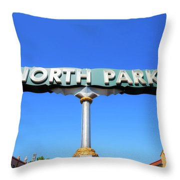Welcome To North Park Throw Pillow