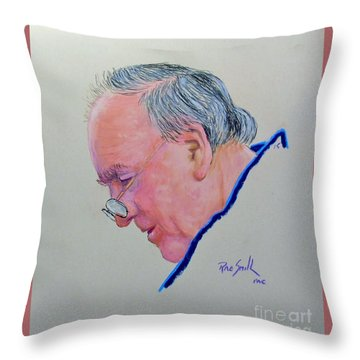 Yours Truly The Artist Throw Pillow