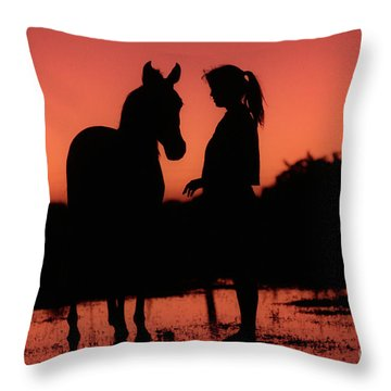 Throw Pillow featuring the photograph Youth by Jim and Emily Bush