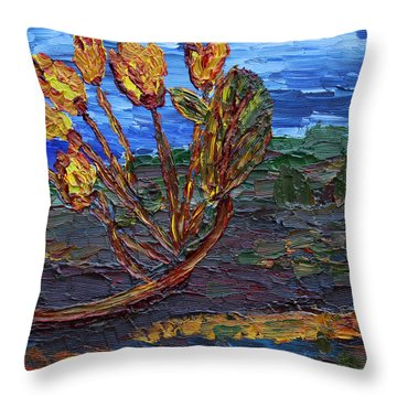 Throw Pillow featuring the painting Youth Time by Vadim Levin