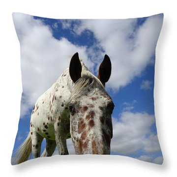 You've Been Spotted Throw Pillow