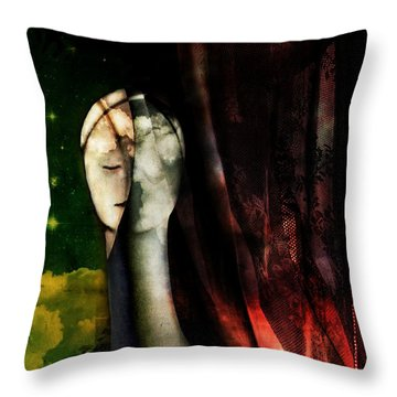 Throw Pillow featuring the digital art You...with The Clouds In Your Eyes by Delight Worthyn