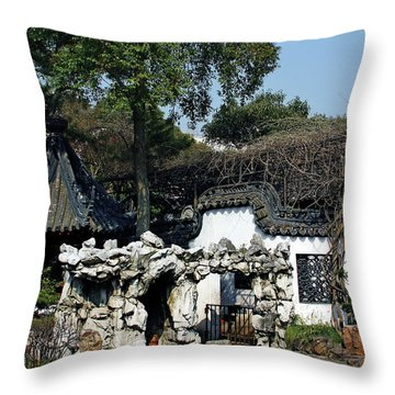 Yu Yuan Garden Shanghai Throw Pillow by Christine Till
