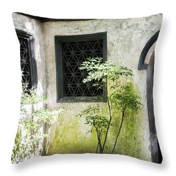 Throw Pillow featuring the photograph Yuan Garden by Angela DeFrias