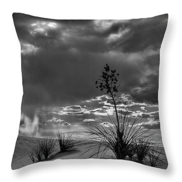 Yucca At Sunset Throw Pillow