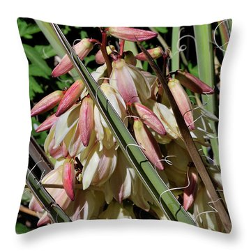 Yucca Bloom I Throw Pillow