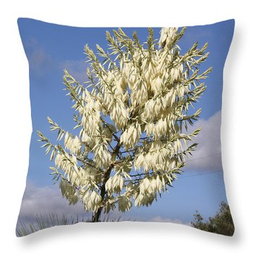 Yucca Flower Throw Pillow by Cumberland Warden