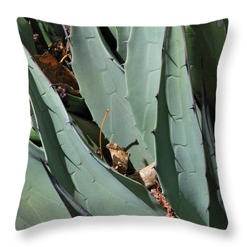 Yucca Leaves Throw Pillow