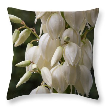 Yucca Plant In Bloom Throw Pillow