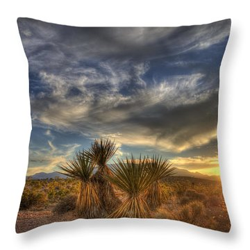 Yucca Sunset Throw Pillow
