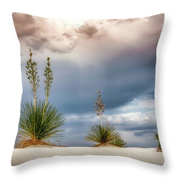 Yucca Three Throw Pillow by James Barber