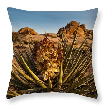 Yucca Bloom Throw Pillow