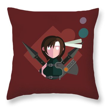 Yuffie Throw Pillow by Michael Myers