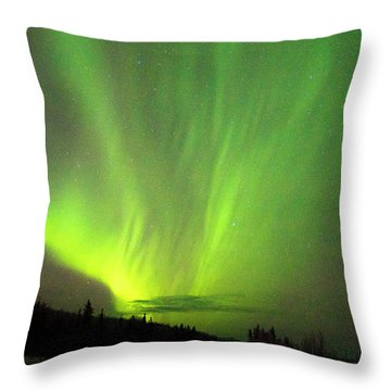 Throw Pillow featuring the photograph Yukon Northern Lights 1 by Phyllis Spoor