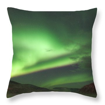 Throw Pillow featuring the photograph Yukon Northern Lights 2 by Phyllis Spoor