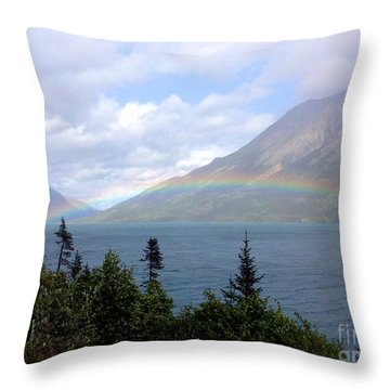 Yukon Rainbow Throw Pillow