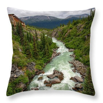 Yukon River Throw Pillow