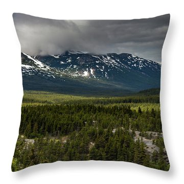 Throw Pillow featuring the photograph Yukon Wilderness by Ed Clark